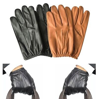 Mens police tactical slim fit dress chauffer clasic driving gloves cow nappa 083