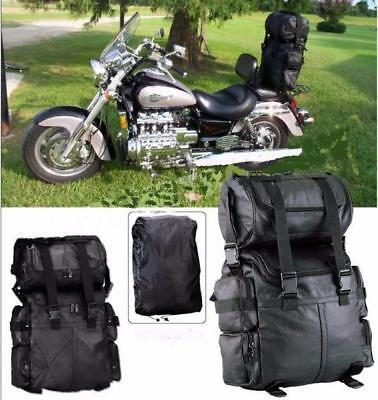 Double Sac pour sissi bar en Cuir souple ( moto custom harley virago shadow )