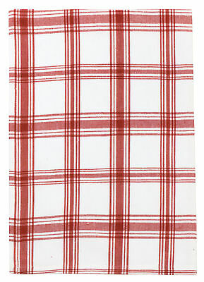 """100% Cotton Red & White Plaid 20""""x28"""" Dish Towel, Set of 6 - Kitchen Red"""