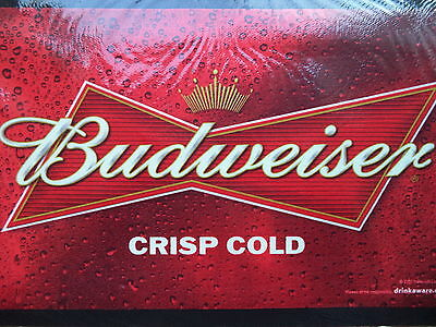 New Budweiser Bud Bar Runner Drip Mat Lager Drink Beer Pub Home Collector Rubber