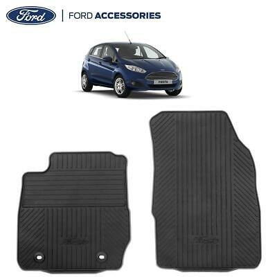 Genuine Ford Fiesta Front Contour Rubber Floor Mat Set 1526899