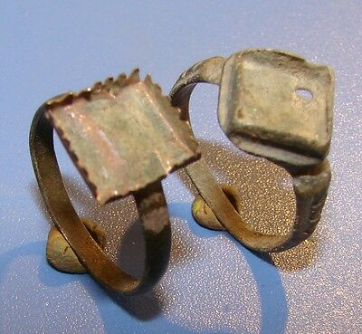 Ancient copper rings 2 pieces  Middle Ages original