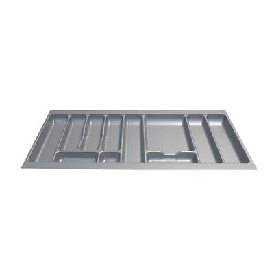 New Kitchen Silver Cutlery Tray Drawer Insert 1000mm