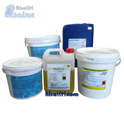 Kit Maris Pool Svernante 100 Mc Dicloro Tricloro Alghicida Pulizia Piscina Ph