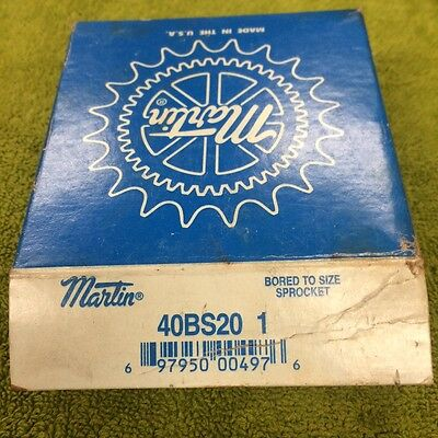Martin 40Bs20  1  Bored To Size Sprocket
