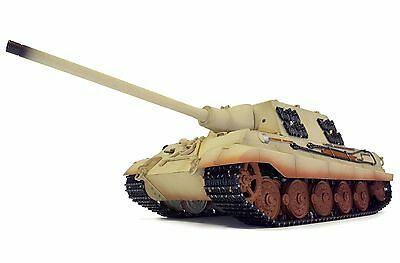 1:16 Torro Jagdtiger RC Tank Airsoft 2.4GHz Smoke & Sound Metal Edition Desert
