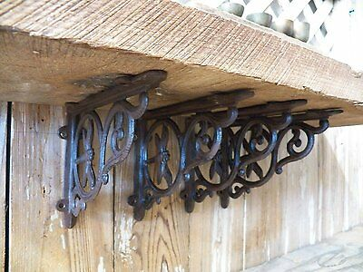 Lot 4 Antique-Style Cast Iron DRAGONFLY  9 x 6.5 Shelf SHELVING BRACKETS