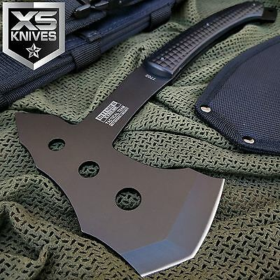 "11"" SURVIVAL TACTICAL TOMAHAWK THROWING AXE BATTLE Hatchet hunting knife Blade"