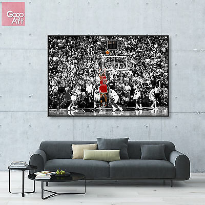 Canvas print wall art photo big poster Michael Jordan Last Shot nba mvp dunk