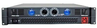 Mr. Dj PROA3000 PRO Series Power Dj Amplifier with 2 Channels 3000 Watts Peak
