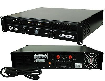 Mr. Dj PROA7000 PRO Series Power Dj Amplifier with 2 Channels 7000 Watts Peak