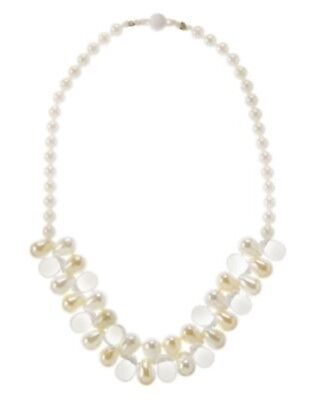Gymboree Egg Hunt Pearl Gem Beaded Necklace 1-Ct Nwt