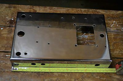 Morley guitar effects pedal blank metal chrome casting wah volume phaser flanger