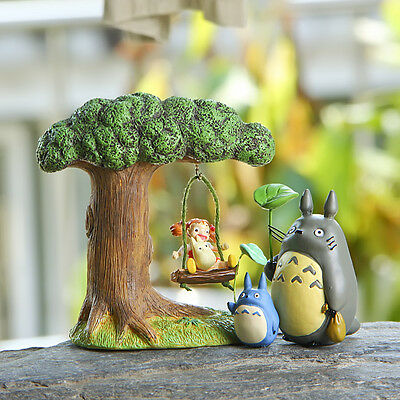 4pcs Studio Ghibli My Neighbor Totoro DIY Figures Toy Figurine Home Yard Decor