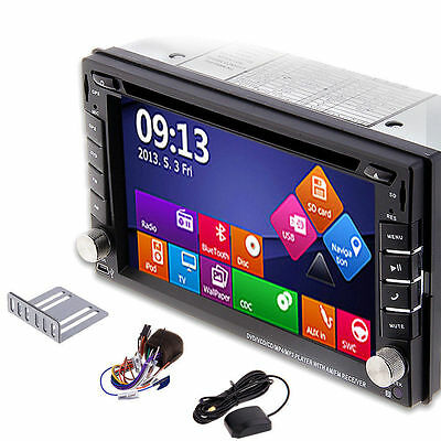 2017New Window8 UI GPS Double 2DIN Car Stereo DVD Players Bluetooth iPod MP3 TV