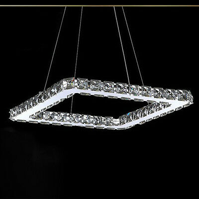 Modern Chandeliers Square Round Crystal LED/Bulb Lighting Lamp Celling Fixtures