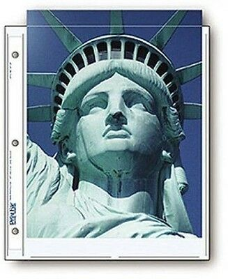 Print File Archival Photo Pages Holds Two 8.5x11 Prints, Pack Of 25  **-