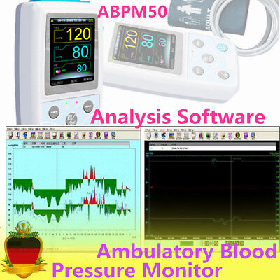 24H CONTEC Ambulatory Blood Pressure Monitor Holter ABPM50 +Analysis Software