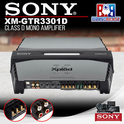 Sony Xmgtr3301d Class D Mono Subwoofer Amplifier 1100 Watts Max