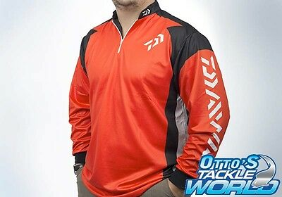 Daiwa Tournament Fishing Shirt in Red BRAND NEW at Otto's Tackle World Drummoyne