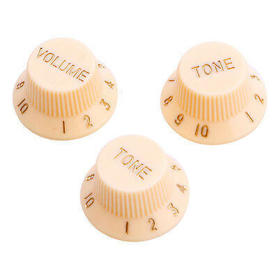 Cream Guitars Strat Knob 1-Volume 2-Tone Control Knobs For Fender Stratocaster