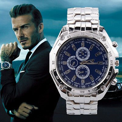 Fashion Luxury Men's Military Army Stainless Steel Analog Quartz Wrist Watch UK