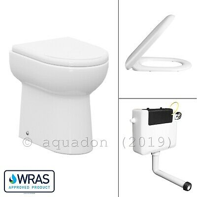 Linton Back to Wall WC Ceramic Toilet Pan Concealed Cistern Soft Close Seat