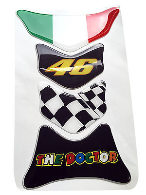 Rossi The Doctor Tyre Tread 3d Resin Domed Resin Tank Pad