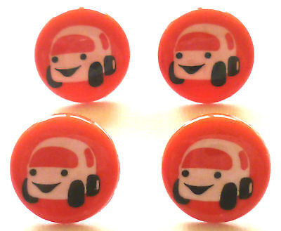 4 Children Buttons Car red
