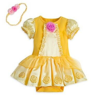 Disney Store baby Belle Beauty and the Beast Cuddly Bodysuit costume UCHOOSE NWT