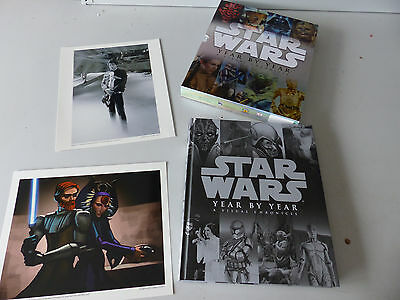Star Wars - Year by Year - A visual Chronicle Hardcover Book + 2x Art Prints