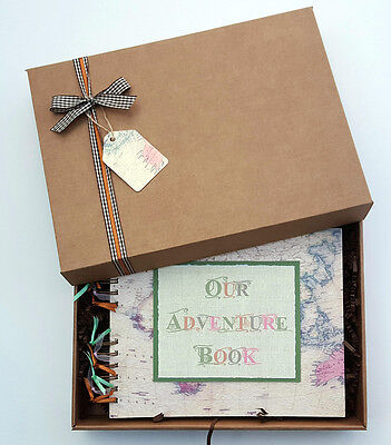 """Our / My Adventure Book, Family Travel Photo Album, 10""""x 8"""" boxed scrapbook"""