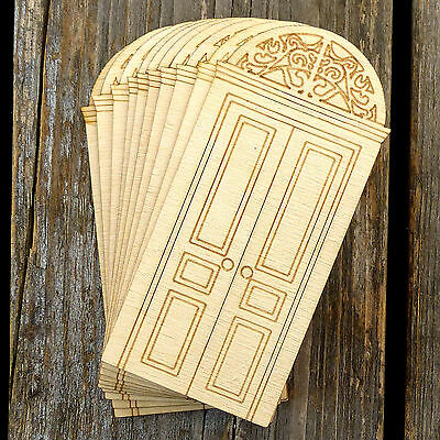 10x Wooden Door Art Nouveau Style A Craft Shapes 3mm Plywood Architecture
