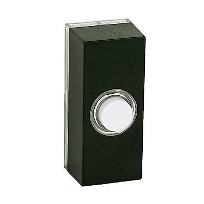 New Friedland Door Bell Doorbell Bell Push Black Chime LV Illuminated Light Spot