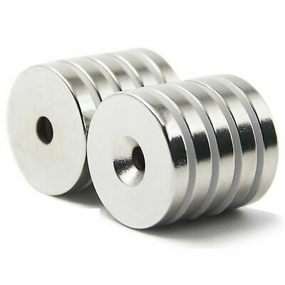 Wholesale 30x5 hole 6 mm N50 Strong Magnets Disc Cylinder Neodymium  Rare Earth