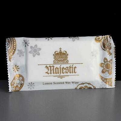 500 x MAJESTIC LUXURY LEMON FRESH HAND WET WIPES  NAPKINS