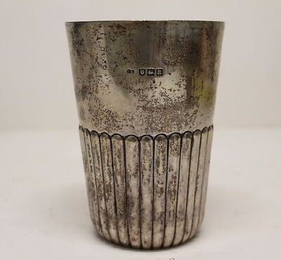 """Antique Victorian Sterling Silver Beaker Cup by Charles Boyton II, 5"""" ~ 10 ounce"""