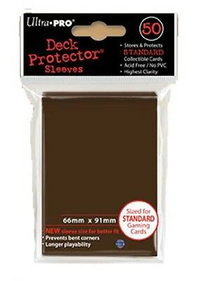 Fantastic Ultra Pro Standard Sized Deck Protector Sleeves - Solid Brown X 50