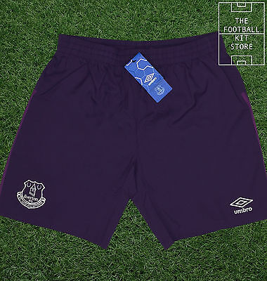 Everton Goalkeeper Shorts - Official Umbro Football Shorts - Mens - All Sizes