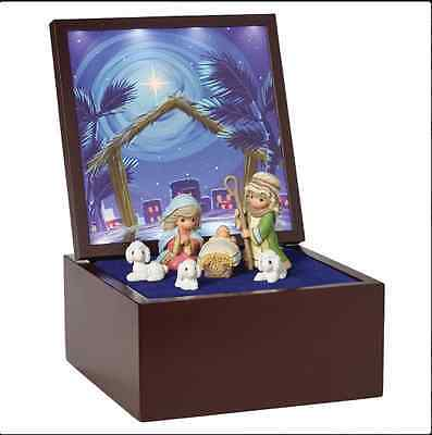 Precious Moments Christmas Heirloom Nativity Musical 7pcs Set New 2016 161106