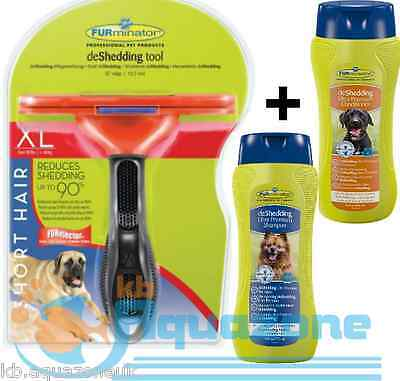 FURMINATOR DOG XL SHORT HAIR + Premium Dog Conditioner + SHAMPOO 490ml