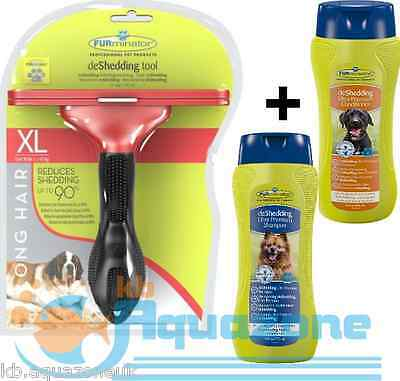 FURMINATOR DOG XL LONG HAIR + Premium Dog Conditioner + SHAMPOO 490ml