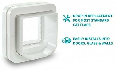 Microchip Cat Flap Sureflap Pet Door Dogs Cats Dimensions H142 x W120mm Opening