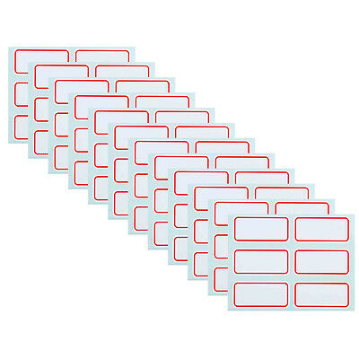 72PCS 25 x 53mm White Price Stickers Self Adhesive Labels Blank Name Number Tags