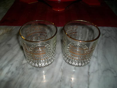 Vintage NEW ALBANY HOTEL Drinking Glasses ~ Denver Colorado - Indiana Glass - 3