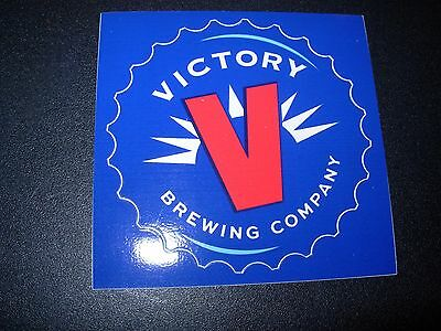 VICTORY BREWING bottle cap LOGO STICKER decal craft beer brewery Pennsylvania