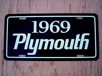 1969 Plymouth license plate tag 69 Road Runner GTX Barracuda Sport Satellite