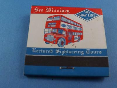 Paddle Wheel Boat Restaurant Gray Line Bus Tours Winnipeg Vintage Matchbook