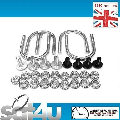 SKY Zone 2 Fixing Kit Nuts And Bolts And U Bolts For 60cm Satellite Dish