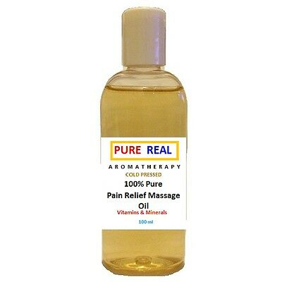 100% PAIN RELIEF MASSAGE OIL -Natural Organic AROMATHERAPY 100ml Grade+A Quality